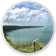 Pointe Du Hoc Round Beach Towel