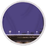 Pont Jacques Chaban-delmas Abstraction Round Beach Towel
