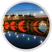 Pont Neuf In Toulouse Round Beach Towel