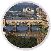 Ponte Vecchio - Florence Round Beach Towel