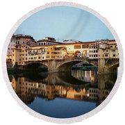 Ponte Vecchio Round Beach Towel