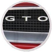 Pontiac Gto  Round Beach Towel