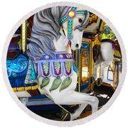 Pony Carousel - Pony Series 5 Round Beach Towel