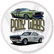 Pony War Classics Round Beach Towel