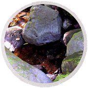 Pool In The Rainforest Round Beach Towel