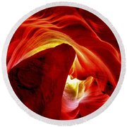 Pool Of Fire Round Beach Towel