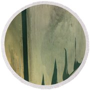 Pool Reflections Round Beach Towel