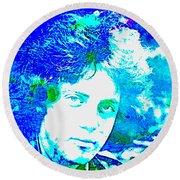 Pop Art Billy Joel Round Beach Towel