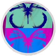 Pop Art Morphosis Round Beach Towel