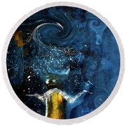 Pop The Champagne Top By Lisa Kaiser Round Beach Towel