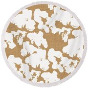 Popcorn- Art By Linda Woods Round Beach Towel