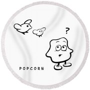 Popcorn Round Beach Towel