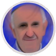 Pope Francis Peaceful Round Beach Towel