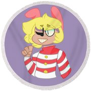 Popee The Performer Round Beach Towel