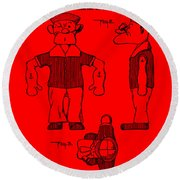 Popeye Doll Patent 1932 In Red Round Beach Towel