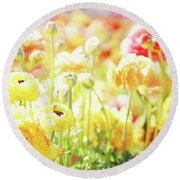 Poppies 2 Round Beach Towel