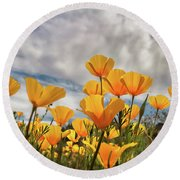 Poppies In The Wind Part Two  Round Beach Towel