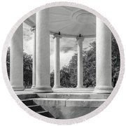 Popp's Bandstand_new Orleans City Park Round Beach Towel