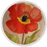 Poppy Art 17-01 Round Beach Towel
