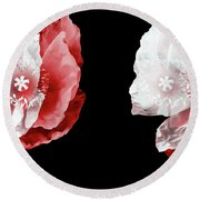 Poppy Confusion Round Beach Towel