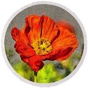 Poppy - Id 16235-142749-5072 Round Beach Towel