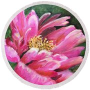 Poppy Melody Round Beach Towel