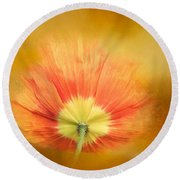 Poppy On Fire Round Beach Towel