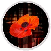 Poppy Passion Round Beach Towel