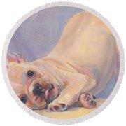 Poppy Puppy Round Beach Towel