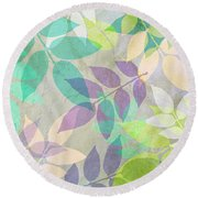 Poppy Shimmer IIi  Round Beach Towel