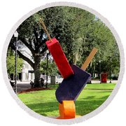 Popsicles In The Park 000 Round Beach Towel