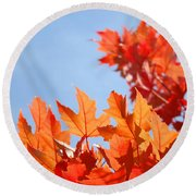Popular Autumn Art Red Orange Fall Tree Nature Baslee Troutman Round Beach Towel