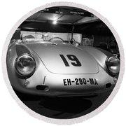Porsche 550a Rs Round Beach Towel