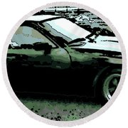 Porsche 944 On A Hot Afternoon Round Beach Towel