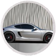 Porsche Beautiful Dream Sports Car Round Beach Towel