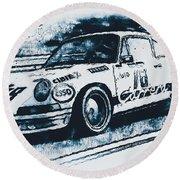 Porsche Carrera Rsr, 1973 - 06 Round Beach Towel