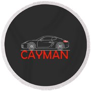 Porsche Cayman Phone Case Round Beach Towel
