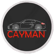 Porsche Cayman Phone Case Round Beach Towel