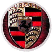 Porsche Emblem Round Beach Towel