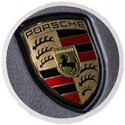 Porsche Round Beach Towel by Gordon Dean II