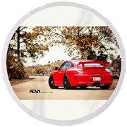 Porsche Gt3 Centerlock Adv1 3  Round Beach Towel