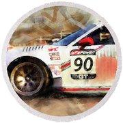 Porsche Gt3 Martini Racing - 01 Round Beach Towel