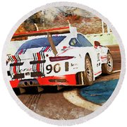Porsche Gt3 Martini Racing - 02 Round Beach Towel