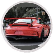 Porsche Gt3 Rs  Round Beach Towel