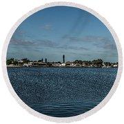 Port Charlotte Beeney Water Way From Beeney Round Beach Towel