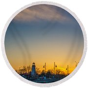 Port Credit 4 Round Beach Towel