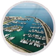 Port Di Pisa Round Beach Towel