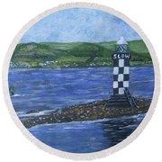 Port Glasgow, Perch Lighthouse Round Beach Towel