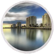 Port Melbourne Dreaming Round Beach Towel