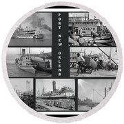 Port New Orleans Round Beach Towel